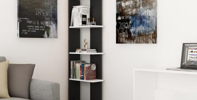 Home2go Wooden Stand Shelf -Black