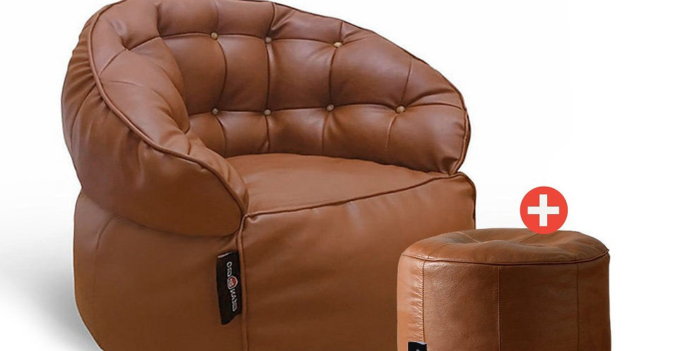 Luxury Set BeanBag Chair Leather