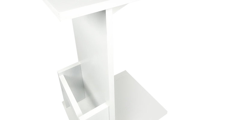 Movable Side table White on wheels