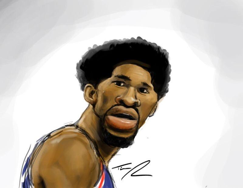 Joel Embiid Caricature