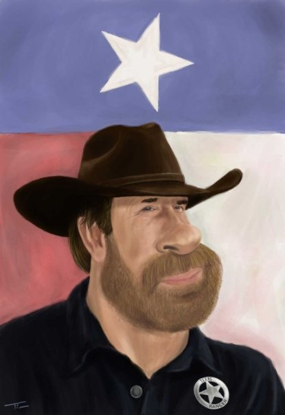 Walker Texas Ranger Caricature
