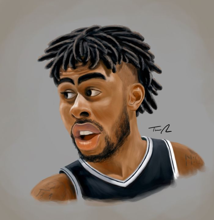 Dangelo Russell Caricature