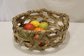 Palm leaf tray large with fruit.JPG
