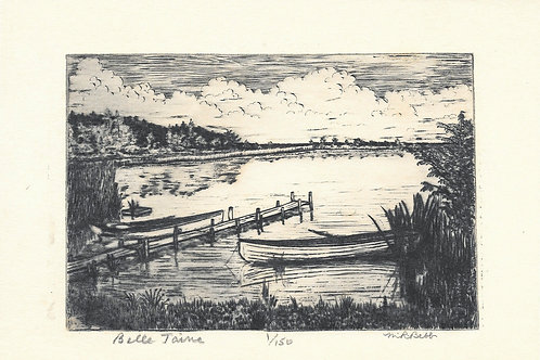 Belle Taine (boats and dock) (no date)