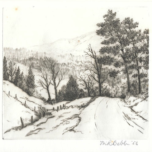 Untitlted Landscape (snowy road) 1956