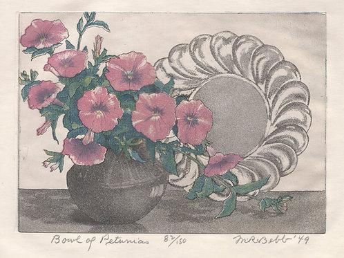 Bowl of Petunias 1949