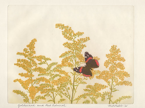 Goldenrod and Red Admiral 1956