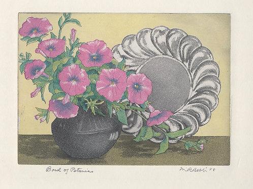 Bowl of Petunias 1948
