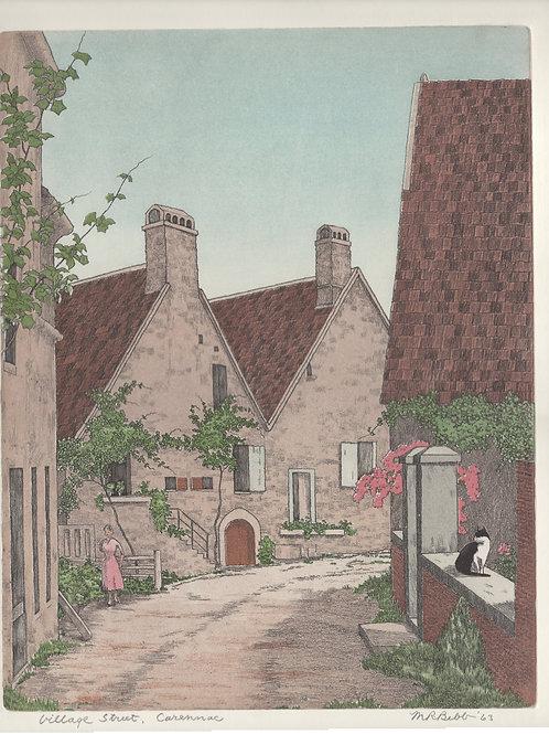 Village Street, Carrenac 1963