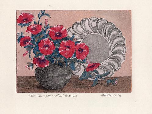 "Petunias - just another ""Still Life"" 1949"