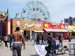 Man in Coney Island