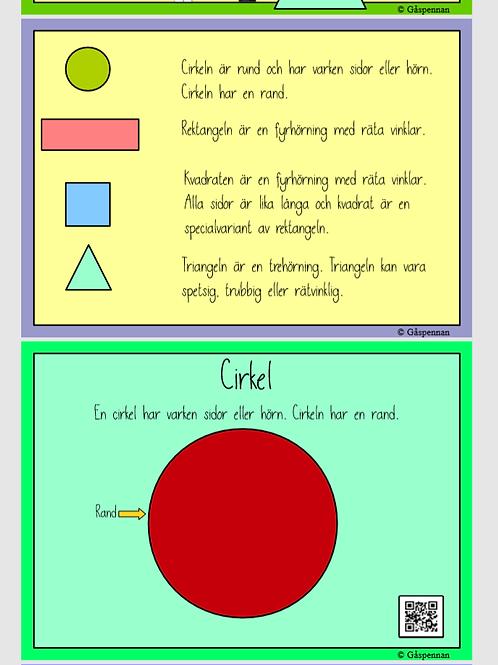 Posters - Geometriska figurer (Nedladdningsbara)