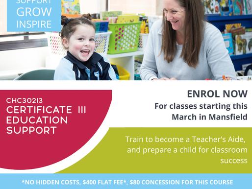 Certificate III in Education Support