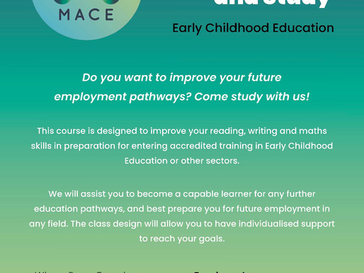 Come study with us! Improve your employment pathways...