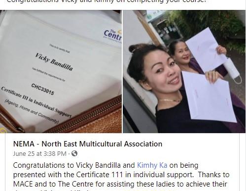 Certificate III in Individual Support