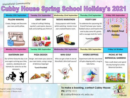Cubby's School Holiday Program