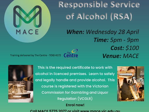 Need to get your Responsible Service of Alcohol (RSA)?