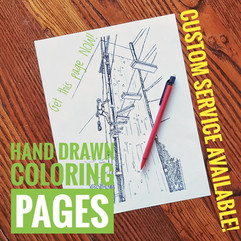 Hand Drawn Coloring Pages