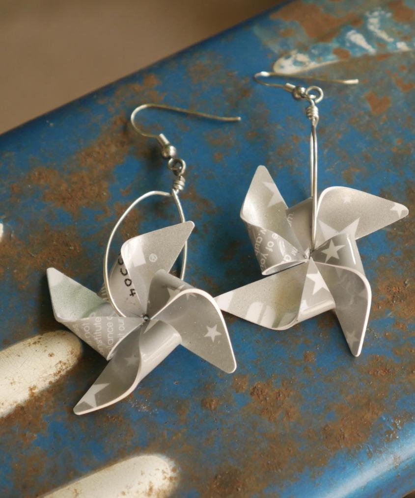 Pinwheel Fidget Earrings