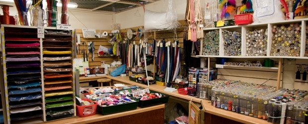 The inside of a haberdashery.