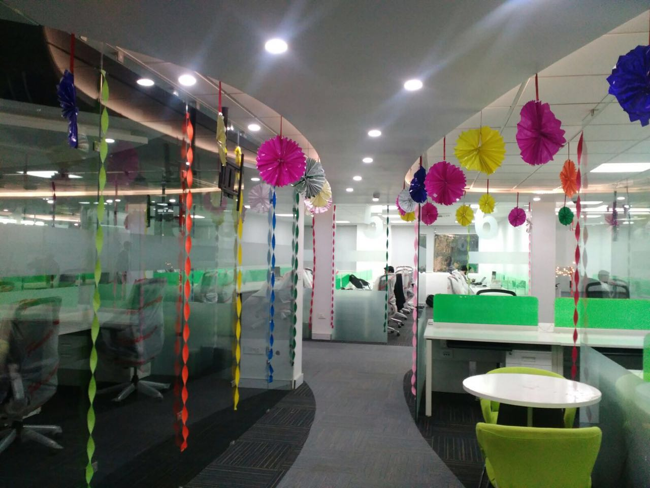 Office decked up during Diwali