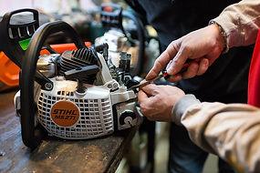 stihl service engine repair hardware store sharpen blade chainsaw lawn mower hardware store cincinnati