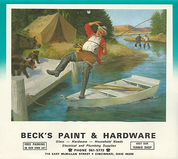 Beck Paint and Hardware calendar