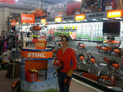 Beck Paint and Hardware Goshen Ohio Stihl equipment blower chainsaw trimmer Kombi system battery gas