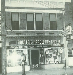 Beck Paint and Hardware around 1959