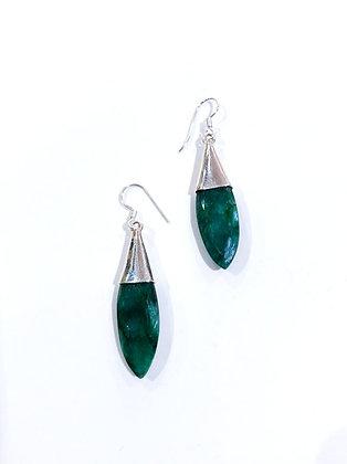 Dyed emerald earrings