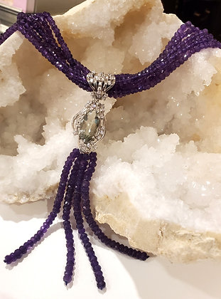 Amethyst and Green Amethyst necklace