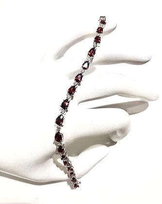 Garnet Cubic Zirconia bracelet