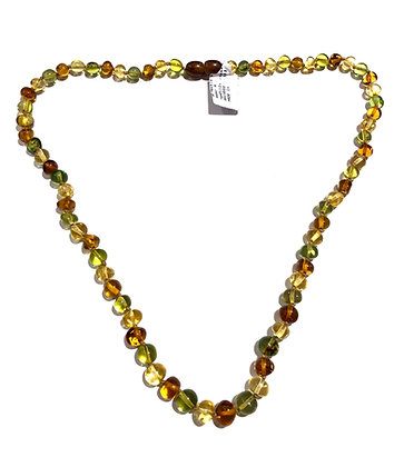 Multi color Amber stone necklace