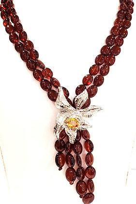 Garnet, Citrine necklace
