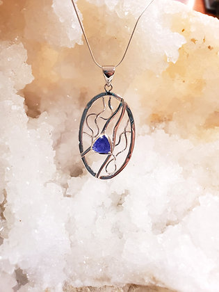 Diamond cut Tanzanite necklace