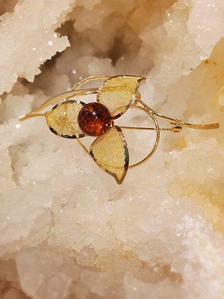 Honey Amber brooch