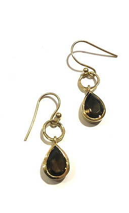 Smoky topaz earrings