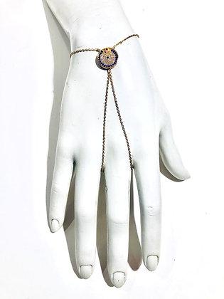 Cubic Zirconia bracelet set on vermeil gold