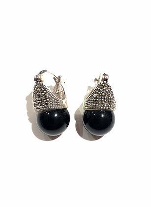 Black Onyx and Marcasite earrings