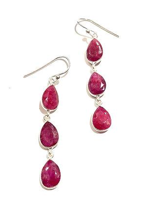 Dyed Ruby earrings
