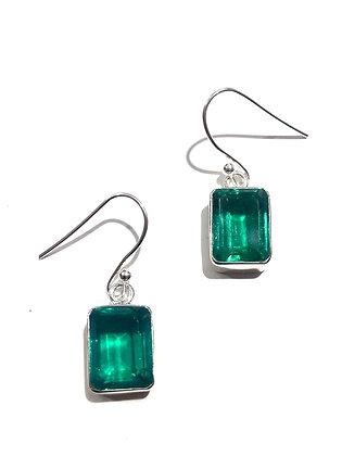 Green quartz earrings