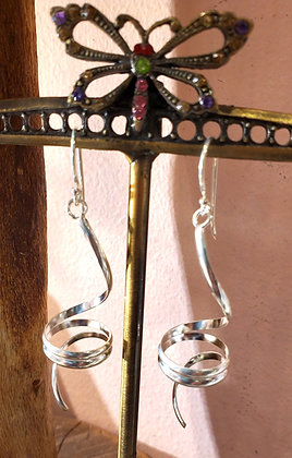 Artistic sterling silver earrings