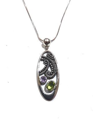 Peridot, Amethyst necklace