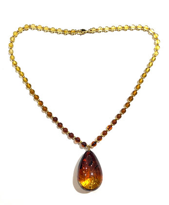 Two tone shaded Amber necklace