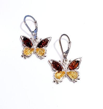 Butterfly Amber earrings