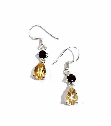 Citrine, Garnet earrings