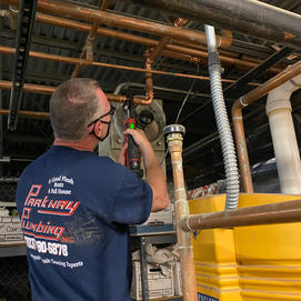 1 1/4 inch water line repair at Belmont Bay