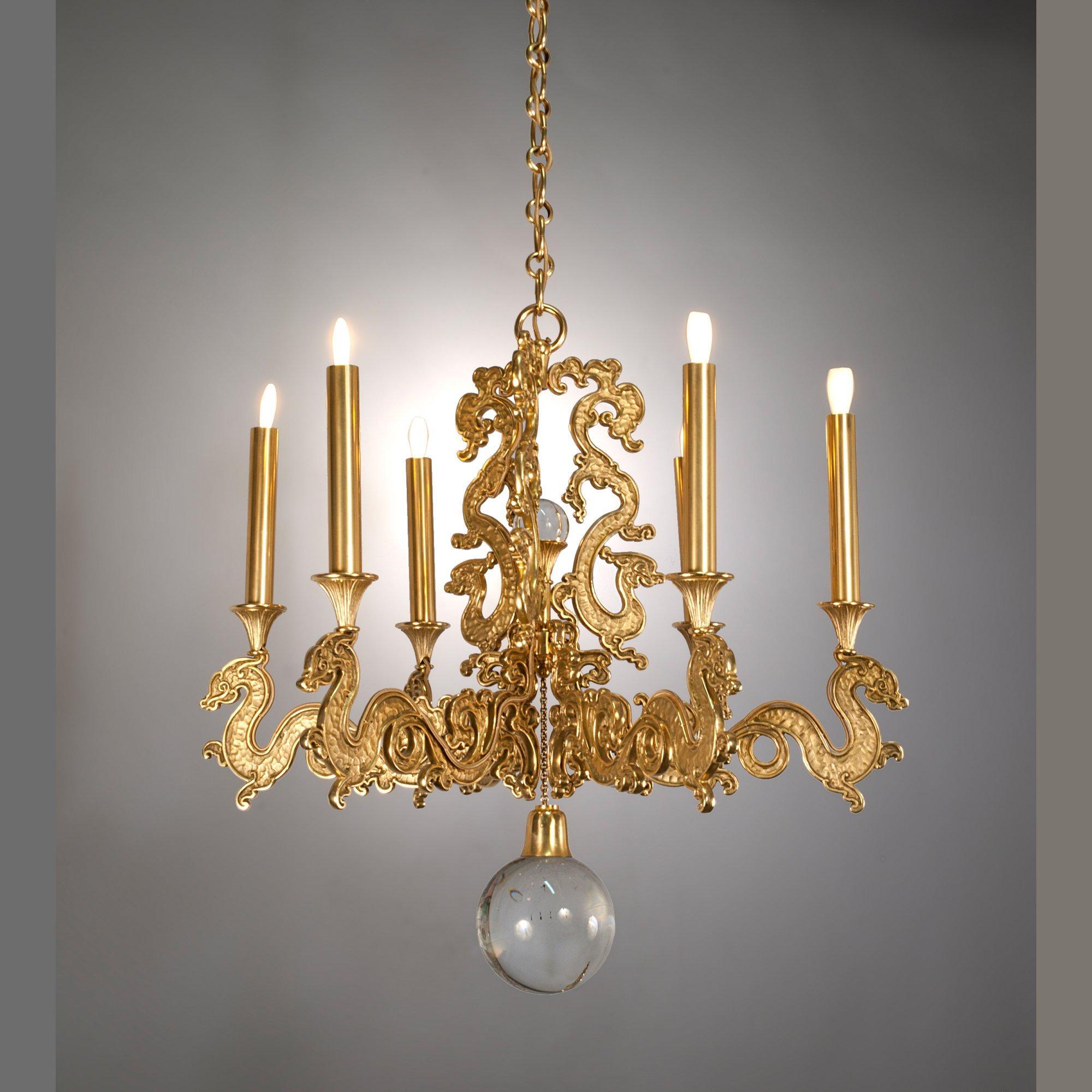 """Petit dragon"" chandelier"