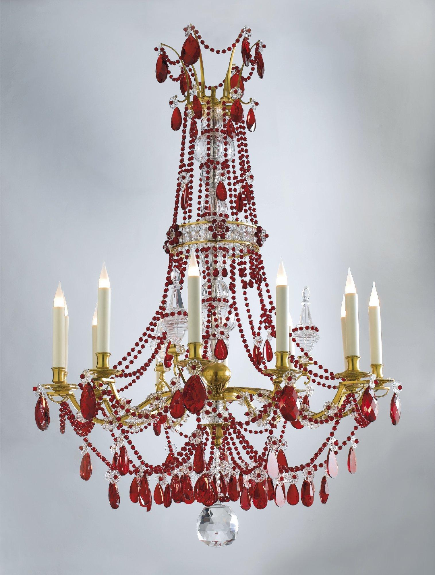 "Red ""Opera"" chandelier"