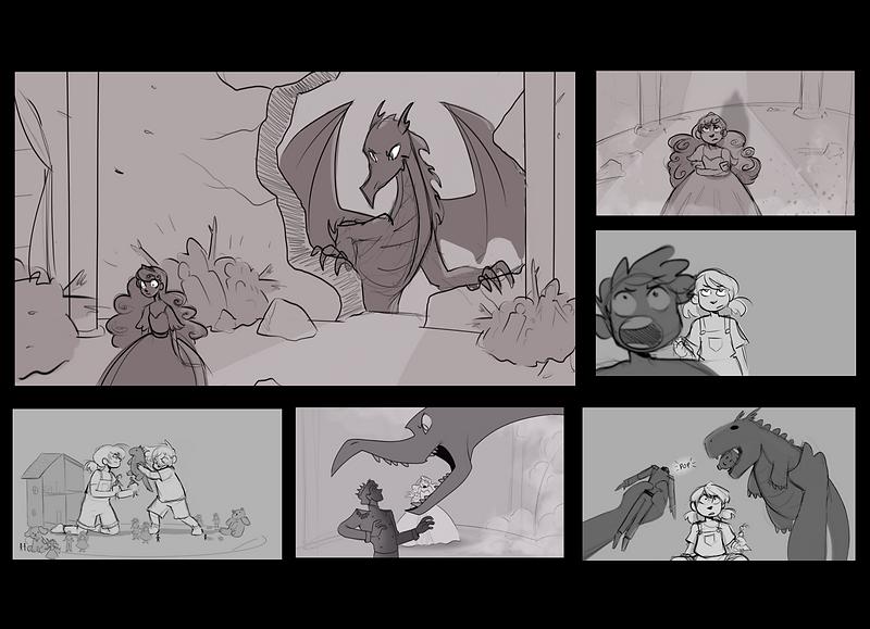 princess and dragon boards.png